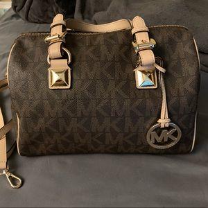 Michael Kors logo satchel purse